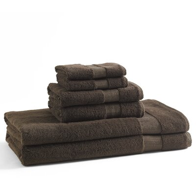6 Piece Towel Set Color: Coffee