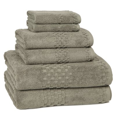 Hotelier 6 Piece Towel Set Color: Tile Grey