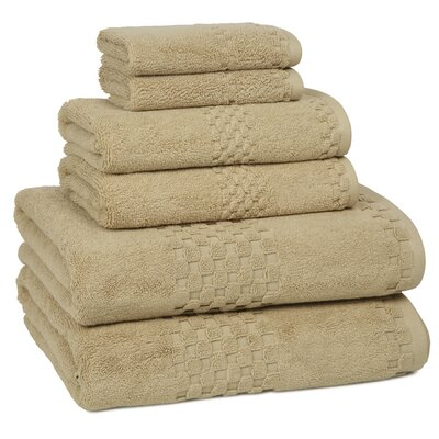 Hotelier 6 Piece Towel Set Color: Desert Sand