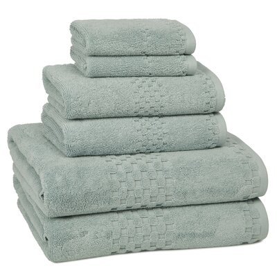 Hotelier 6 Piece Towel Set Color: Slate Blue