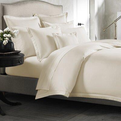 Lisse Duvet Cover Color: Linen, Size: Twin