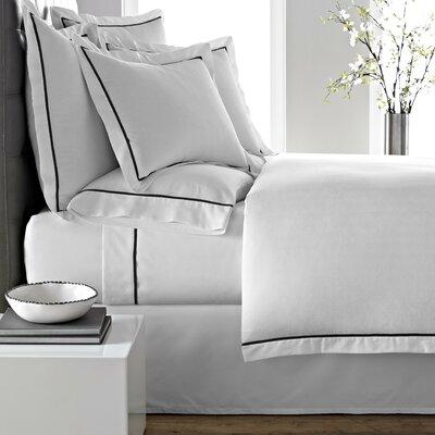 Verona Duvet Cover Size: King, Color: White/Black