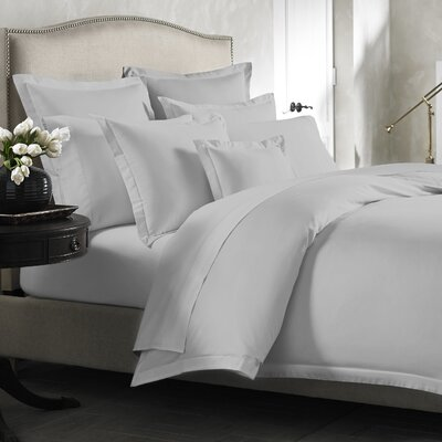 Lisse Duvet Cover Color: Silver, Size: Twin