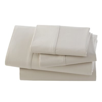 Rayon from Bamboo Pillow Case Size: Standard, Color: Bisque
