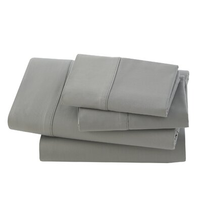 Rayon from Bamboo Pillow Case Size: Standard, Color: Grey