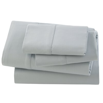 Rayon from Bamboo Pillow Case Size: King, Color: Silver Sage