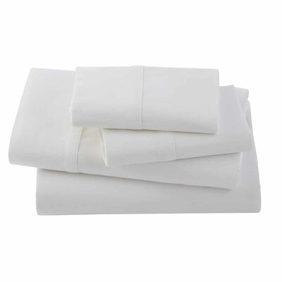 Bamboo Rayon Pillow Case Size: Standard, Color: White