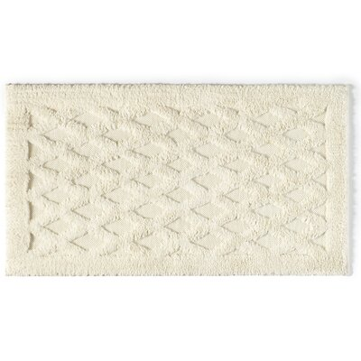 Diamond Luxury Bath Rug Color: Ecru, Size: 30 L x 20 W