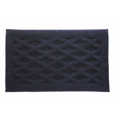 Diamond Luxury Bath Rug Color: Indigo, Size: 40 L x 24 W