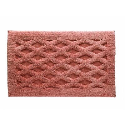 Diamond Luxury Bath Rug Color: Paprika, Size: 40 L x 24 W