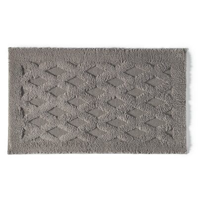 Diamond Luxury Bath Rug Color: Pewter, Size: 40 L x 24 W