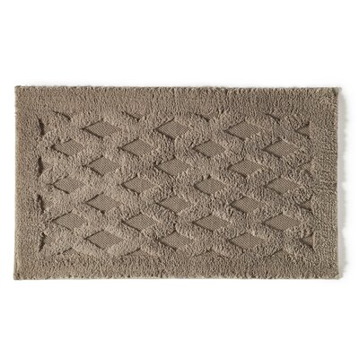 Diamond Luxury Bath Rug Color: Stone, Size: 40 L x 24 W