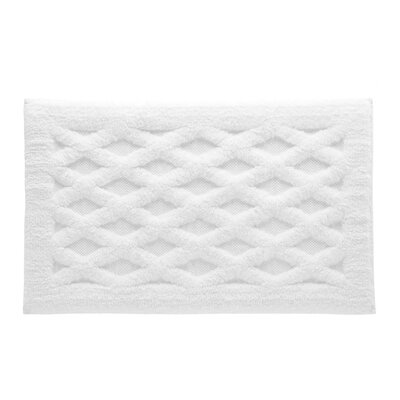 Diamond Luxury Bath Rug Color: White, Size: 30 L x 20 W