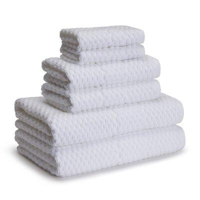 San Marco 6 Piece Towel Set Color: White