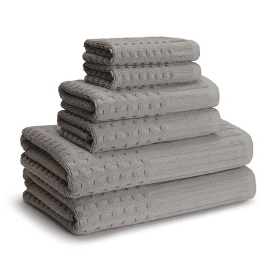 San Marco 6 Piece Towel Set Color: Dolphin Gray