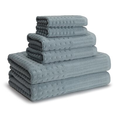 San Marco 6 Piece Towel Set Color: Sterling Blue