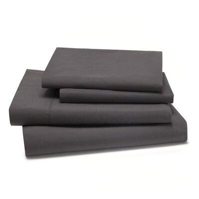 Lorimer 300 Thread Count Sheet Set Color: Coal, Size: Twin