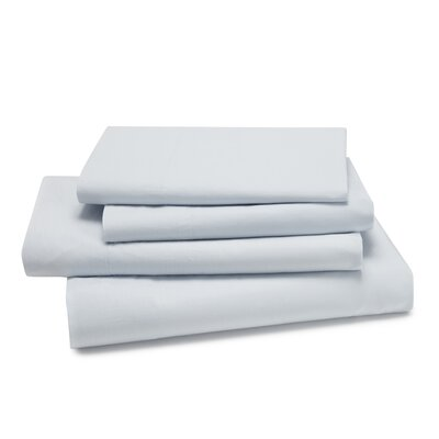 Lorimer 300 Thread Count Sheet Set Color: Ice Blue, Size: Queen