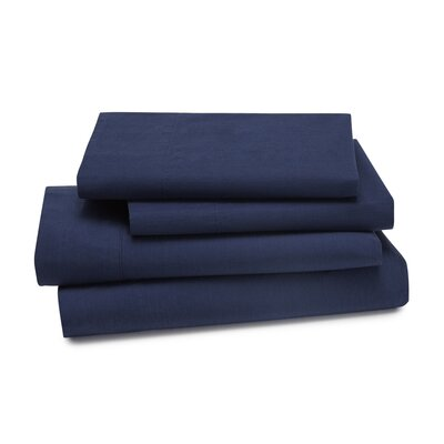 Lorimer 300 Thread Count Sheet Set Color: Navy, Size: Twin