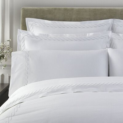 Letto Cable Pillow Case Size: Queen, Color: White