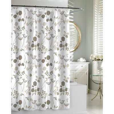 Giardino Shower Curtain Color: Natural