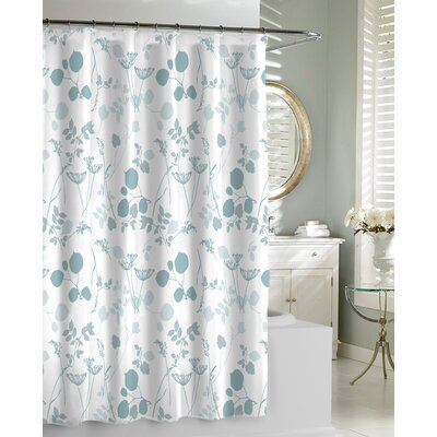 Giardino Shower Curtain Color: Spa Blue
