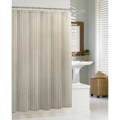 Cotton Blend Chevron Shower Curtain