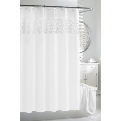 Smock Pleat - Cortina Shower Curtain Color: White