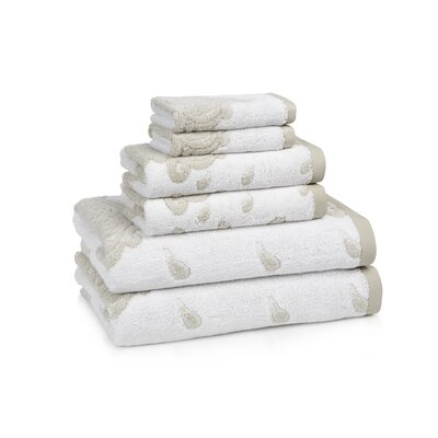 Roma 6 Piece Towel Set Color: Taupe