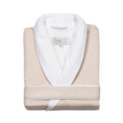 Spa Bath Robe Size: Small / Medium, Color: Beige