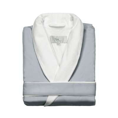 Spa Bath Robe Size: Small / Medium, Color: Silver Sage