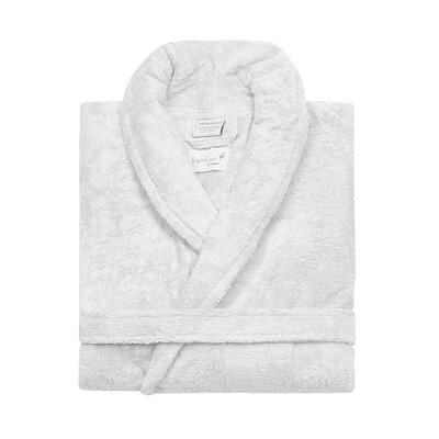 Bamboo Rayon Bathrobe Color: White