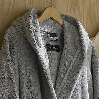 Contempo Bathrobe Color: Steel