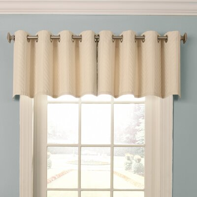Malbrouk Blackout Grommet Curtain Valance Color: Ivory