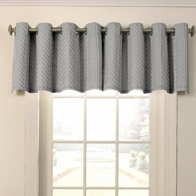 Malbrouk Blackout Grommet Curtain Valance Color: Smoke