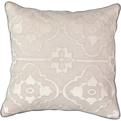 La Salle Applique 100% Cotton Throw Pillow