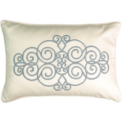 Avignon Embroidered Polyester Lumbar Pillow