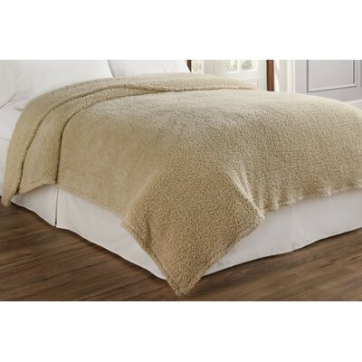 Cosette Ultra Soft Blanket Color: Cream, Size: Full/Queen