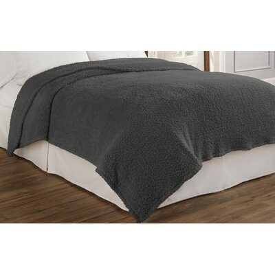Cosette Ultra Soft Blanket Color: Smoke, Size: Twin