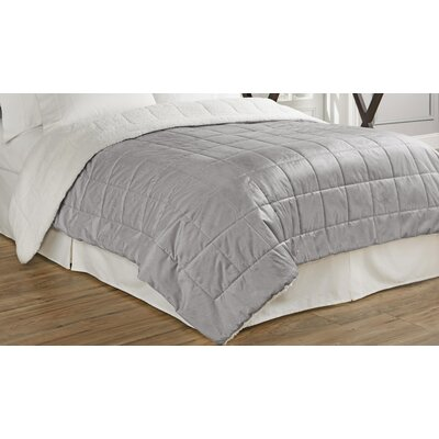 Eiffel Quilted Warming Technology Blanket Size: Full/Queen, Color: Gray