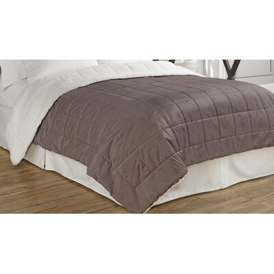 Eiffel Quilted Warming Technology Blanket Size: Full/Queen, Color: Mocha