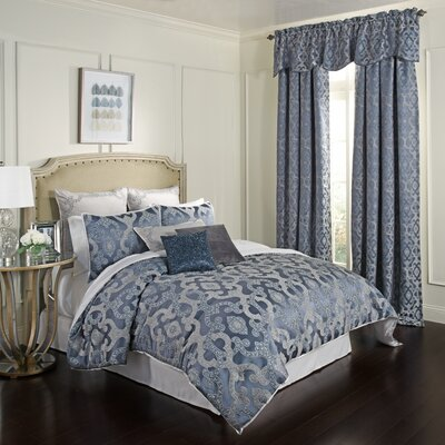 Normandy 4 Piece Reversible Comforter Set Size: Queen
