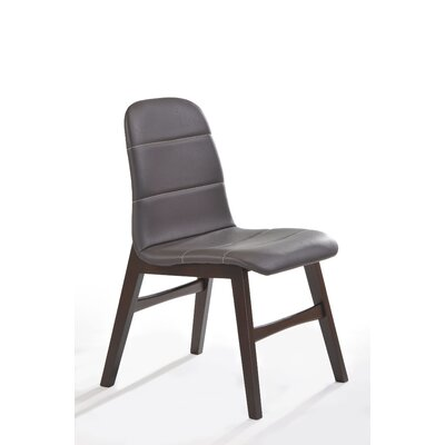 Cafe Genuine Leather Upholstered Dining Chair