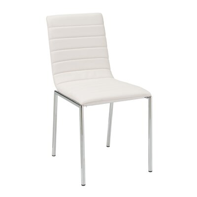 Cafe Side Chair Upholstery: White