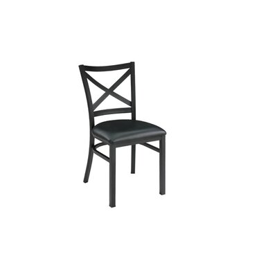 Restaurant Genuine Leather Upholstered Dining Chair