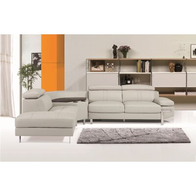 Jone Leather Sectional Orientation: Left Hand Facing