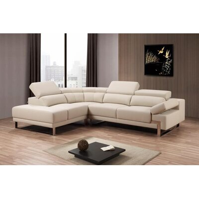 Toya Leather Sectional Orientation: Left Hand Facing