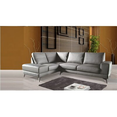 Evelia Leather Sectional Orientation: Left Hand Facing