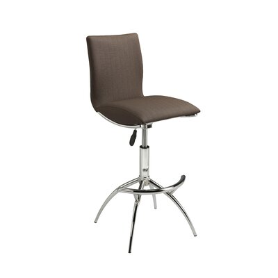 Vranduk Adjustable Height Bar Stool (Set of 2) Color: Cappuccino