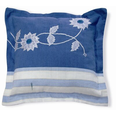 Embroidery Flower Cotton Throw Pillow
